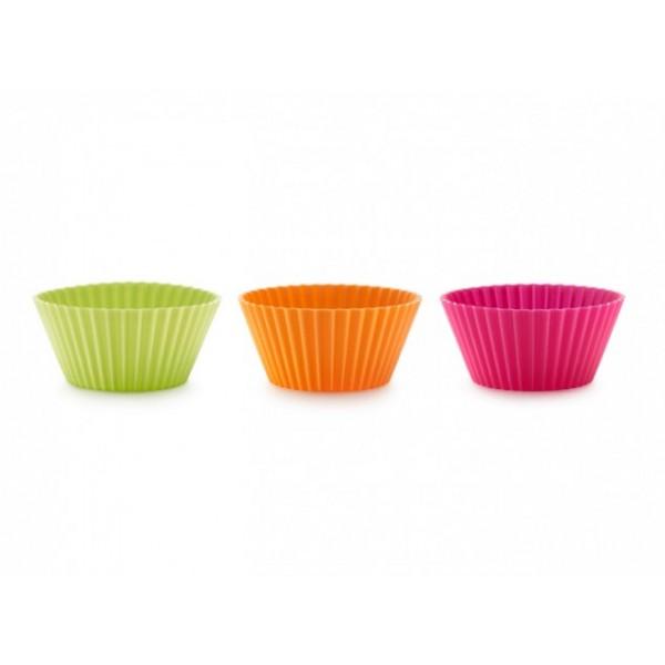 Molde silicona muffin multicolor 6 unidades Lékué