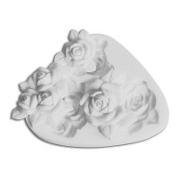 Sugarflex molde silicona 3 modelos de rosa SLK139 Silikomart