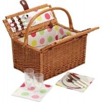 Picnic basket striped sailor for 2 people