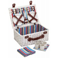 Picnic basket striped sailor for 4 people