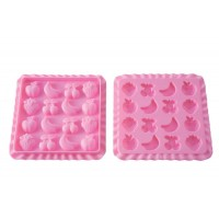 Molde silicona gominolas Tutti Frutti + Libro Recetas Silikomart