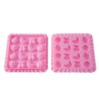 Silicone mold jellies Tutti Frutti + recipe book Silikomart