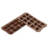 Stampi in silicone cioccolatini Choco Winter Silikomart