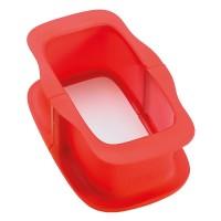 Molde Duo rectangular 15 cm Lékué rojo