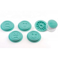 Set 4 estampadores caritas galletas Wonder Stamp Silikomart