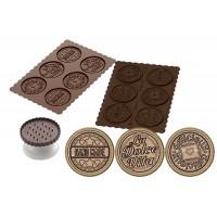 Molde silicona galletas chocolate + cortador redondo Dolce Vita Silikomart