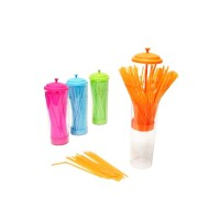 Dispenser straws + 100 straws