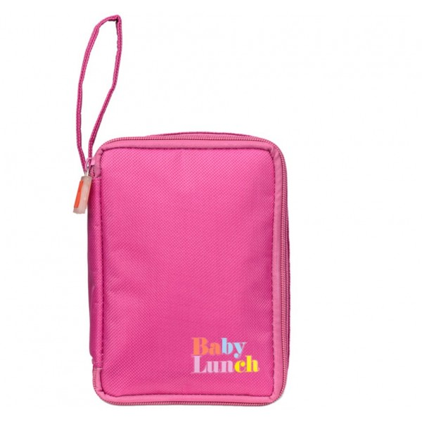 Sac isotherme Baby Lunch rose + tupperware 450ml