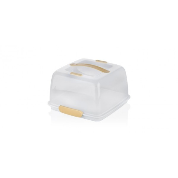 Porta tartas con hielo cuadrado 28x28 cm Delicia