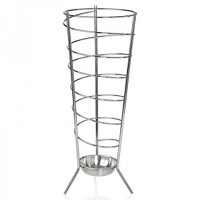 Steel umbrella stand with round spiral