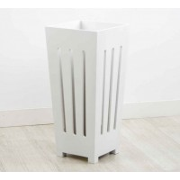 White wooden umbrella stand 24x24x53 cm
