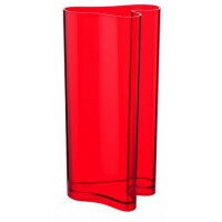 Red decorative vase and umbrela holder Guzzini