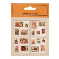 Stickers (10) 9x12 cm multi colour