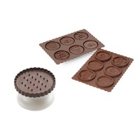 Cookie cutter and chocolat Choc Christmas Silikomart