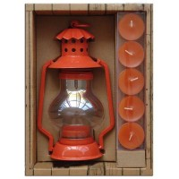 Orange lantern holders gift set