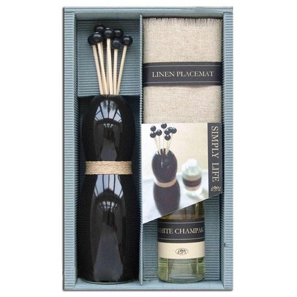 Set mikado cadeau aromatique + Couverture + Blanc champak d'huile