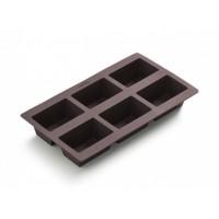 Molde silicona panecillos 6 cavidades marrón Lékué