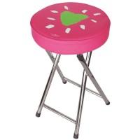 Pink bathroom stools green heart mirar