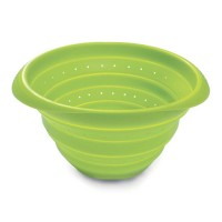 Lékué collapsible silicone colander 23 cm green