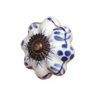 Doorknob ø 3,5 cm blue