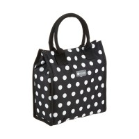 Black polka lunch / snack cool bag