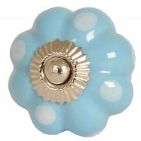 Doorknob ø 4 cm light blue