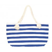 Sky blue striped beach bag sailor