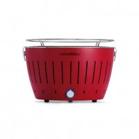 Portable charcoal barbecue red LotusGrill