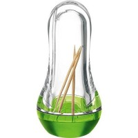 Green Feeling toothpick dispenser Guzzini