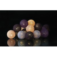Garland wire led balls purple