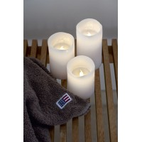 Set 3 led white candles