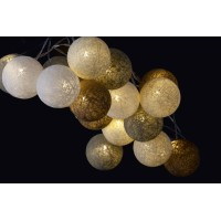 Garland wire led balls cream