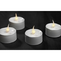 Set 6 led white candles