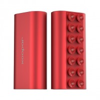 Metallic red squid mini power bank 5200mah
