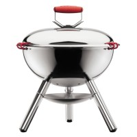 Stainless steel shiny barbecue charcoal grill Fyrkat Bodum