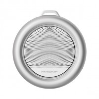 Silver color speaker for bathroom splash
