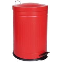 Papelera metal Step rojo 20 litros