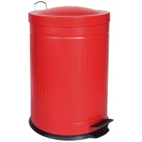 Step metal bin red 20 L