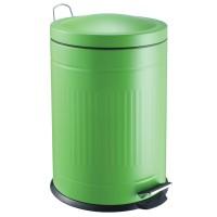 Papelera metal Step verde 20 litros