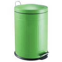 Step metal bin green 20 L