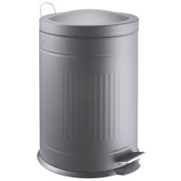 Step metal bin grey 20 L