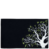 Black kitchen rug Árbol 50x80 cm