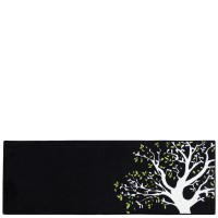 Black kitchen rug Árbol 50x140 cm