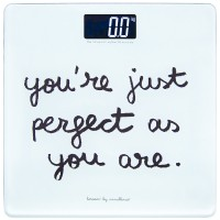 """Bathroom scale """"You are perfect"""""""