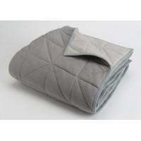 Manta Chic reversible gris 130x170 cm