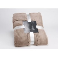 Blanket Taupe Frufru 130x170 cm