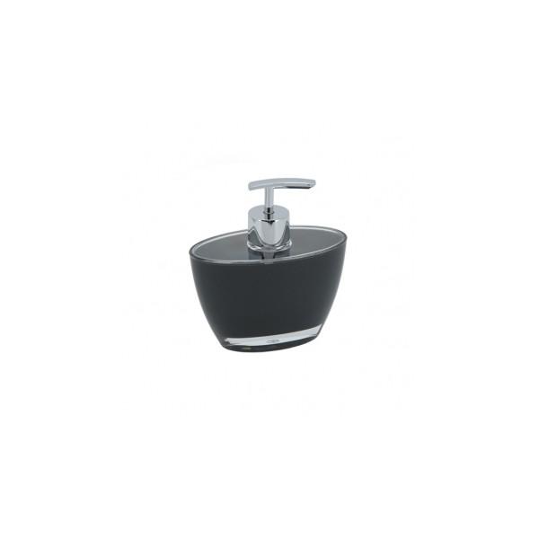 Dosificador jab n ba o acr lico ovalado negro decoraci n ba o for Dosificador jabon bano