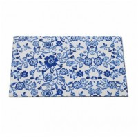 Alfombra polyester Blue Floral 75x45 cm
