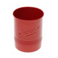 Utensil holder metallic red vintage style 12,5x15 cm
