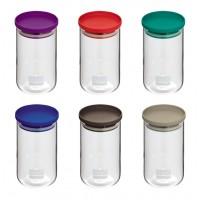 Tarro de cristal con tapa hermética varios colores 0,60 litros